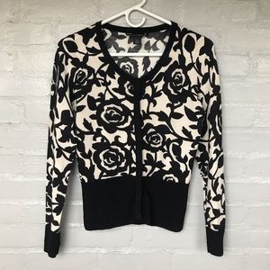 White House Black Market floral cardigan size S